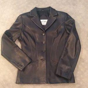 Michael Hoban North Beach Leather Blazer Jacket